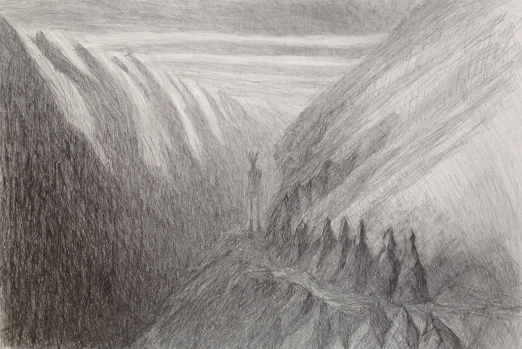 Elisabeth Fux Mattig, animierte Berge 3, 2003